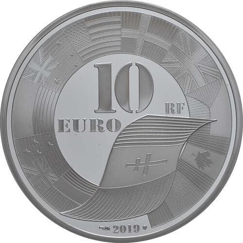 Rückseite:Frankreich : 10 Euro Land, See, und Luftoperationen  2019 PP