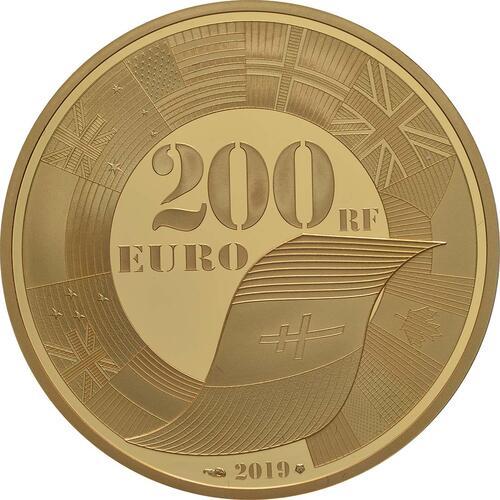 Rückseite:Frankreich : 200 Euro Land, See, und Luftoperationen  2019 PP