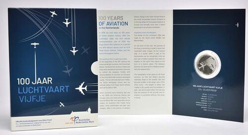 Lieferumfang:Niederlande : 5 Euro 100 Jahre Luftfahrt  2019 PP