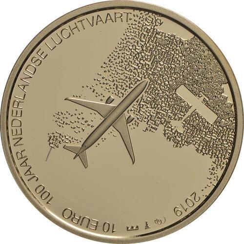 Vorderseite:Niederlande : 10 Euro 100 Jahre Luftfahrt  2019 PP