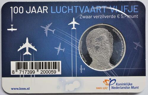 Zertifikat:Niederlande : 5 Euro 100 Jahre Luftfahrt  2019 bfr
