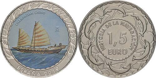 Lieferumfang:Spanien : 1,5 Euro Chinesischer Champatian #6  2019 bfr