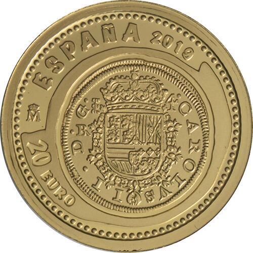 Rückseite:Spanien : 20 Euro Haus Habsburg  2019 PP
