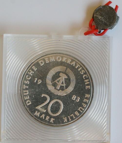 Rückseite:DDR : 20 Mark Luther  1983 PP