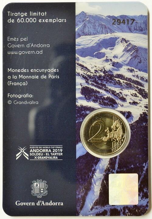 Zertifikat:Andorra : 2 Euro Alpin Ski Weltcup Finale  2019 bfr