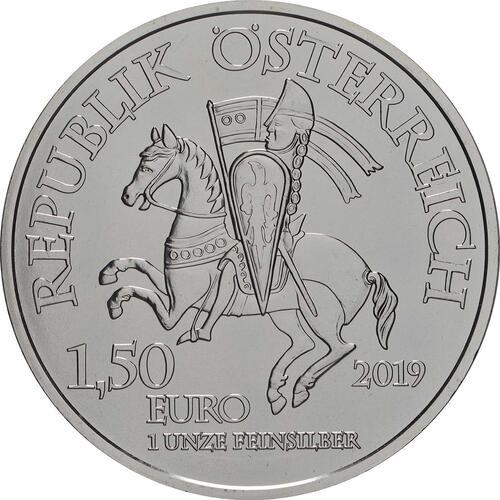 Rückseite:Österreich : 1,5 Euro Wiener Neustadt  2019 Stgl.