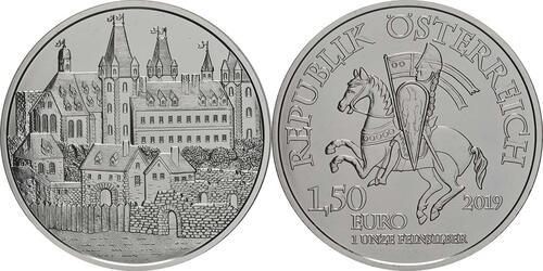 Lieferumfang:Österreich : 1,5 Euro Wiener Neustadt  2019 Stgl.
