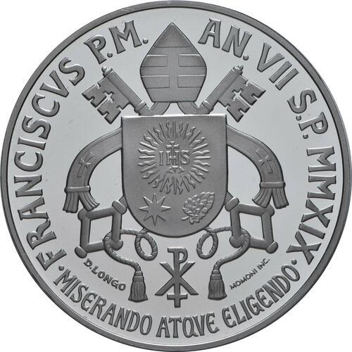 Rückseite:Vatikan : 5 Euro 150 Jahre Circolo San Pietro  2019 PP