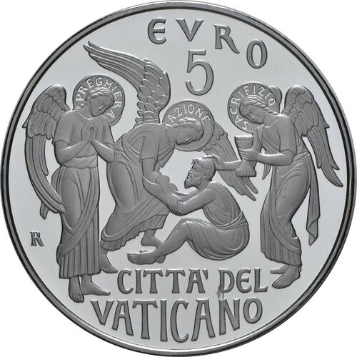 Vorderseite:Vatikan : 5 Euro 150 Jahre Circolo San Pietro  2019 PP