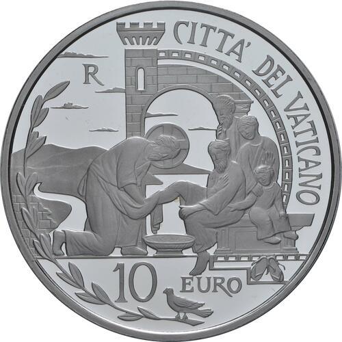 Vorderseite:Vatikan : 10 Euro 52. Weltfriedenstag  2019 PP