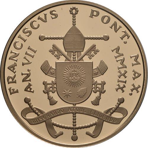Rückseite:Vatikan : 50 Euro Apostelgeschichte: die Versammlung von Jerusalem  2019 PP