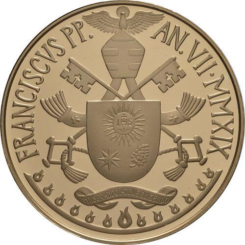 Rückseite:Vatikan : 100 Euro postolische Konstitution Zweites Vatikanisches Konzil: Lumen Gentium  2019 PP