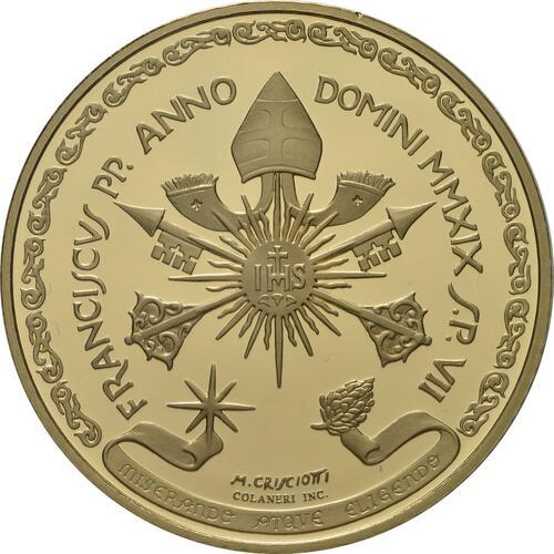 Rückseite:Vatikan : 200 Euro Die Erzengel: Michael  2019 PP