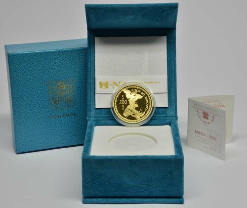 Lieferumfang:Vatikan : 200 Euro Die Erzengel: Michael  2019 PP