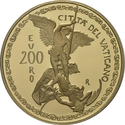 Vorderseite:Vatikan : 200 Euro Die Erzengel: Michael  2019 PP