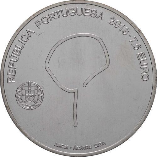 Rückseite:Portugal : 7,5 Euro Souto Moura  2018 bfr
