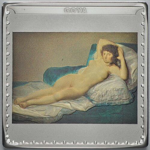 Vorderseite:Spanien : 10 Euro Goya - farbig  2019 PP