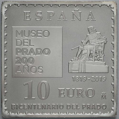 Rückseite:Spanien : 10 Euro Velazquez - farbig  2019 PP