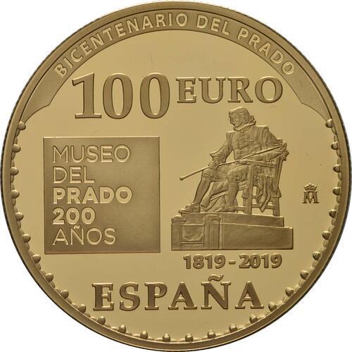 Rückseite:Spanien : 100 Euro Karl V.  2019 PP