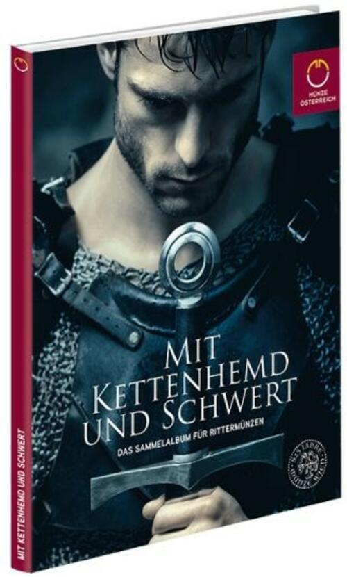 """Lieferumfang:Österreich :   Sammelalbum für 10 Euro Kupfer """"Mit Kettenhemd und Schwert""""  2019 bfr"""
