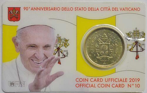Lieferumfang:Vatikan : 50 Cent   2019 bfr