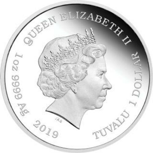 Rückseite:Tuvalu : 1 Dollar 150 Jahre Periodensystem der Elemente  1 oz  2019 PP