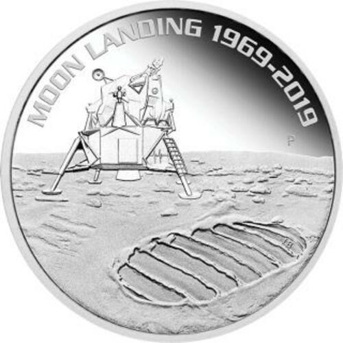 Vorderseite:Australien : 1 Dollar 50 Jahre Mondlandung   1 oz  2019 PP