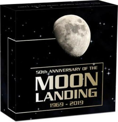 Zertifikat:Australien : 8 Dollar 50 Jahre Mondlandung   5 oz  2019 PP