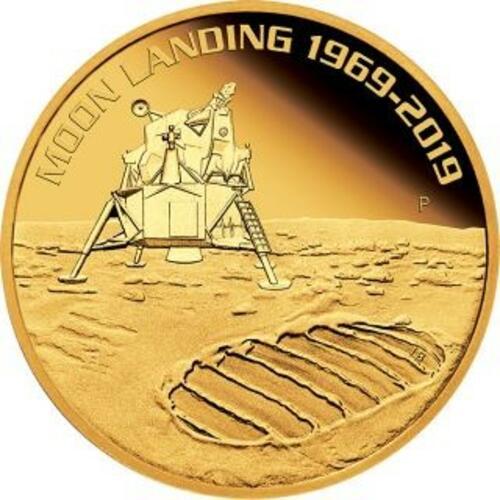 Vorderseite:Australien : 100 Dollar 50 Jahre Mondlandung   1 oz  2019 PP