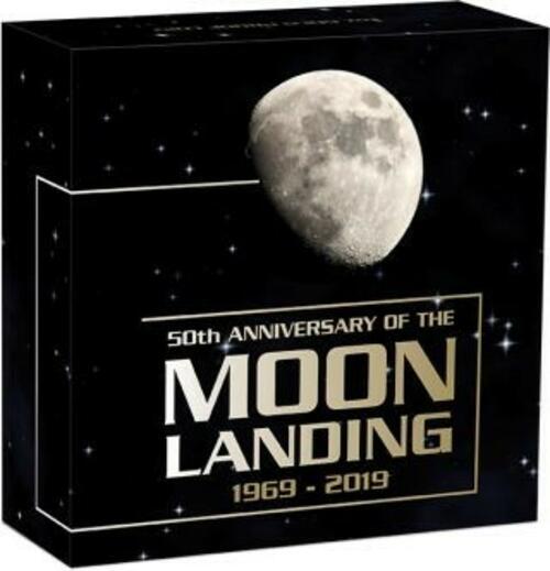 Zertifikat:Australien : 100 Dollar 50 Jahre Mondlandung   1 oz  2019 PP
