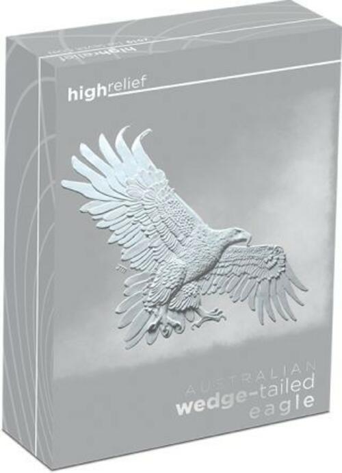 Zertifikat:Australien : 1 Dollar Keilschwanzadler  1 oz  Highrelief  2019 PP