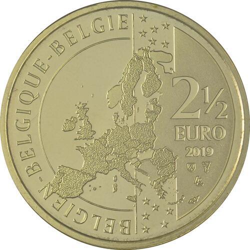 Rückseite:Belgien : 2,5 Euro Tour de France  2019 Stgl.