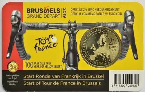 Zertifikat:Belgien : 2,5 Euro Tour de France  2019 Stgl.