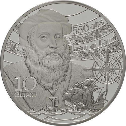 Rückseite:Frankreich : 10 Euro Der Turm von Belem / Vasco da Gama  2019 PP