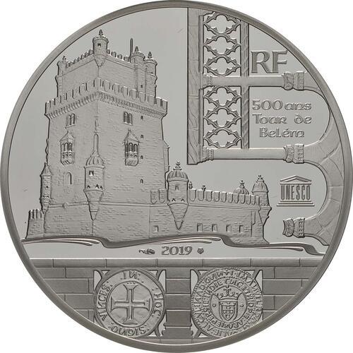 Vorderseite:Frankreich : 10 Euro Der Turm von Belem / Vasco da Gama  2019 PP