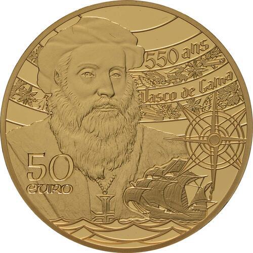 Rückseite:Frankreich : 50 Euro Der Turm von Belem / Vasco da Gama  2019 PP