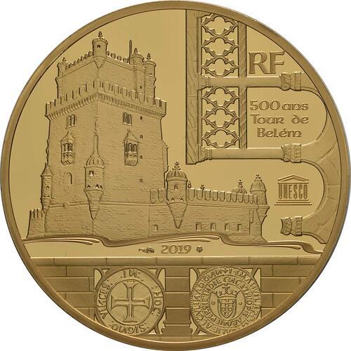 Rückseite:Frankreich : 200 Euro Der Turm von Belem / Vasco da Gama  2019 PP