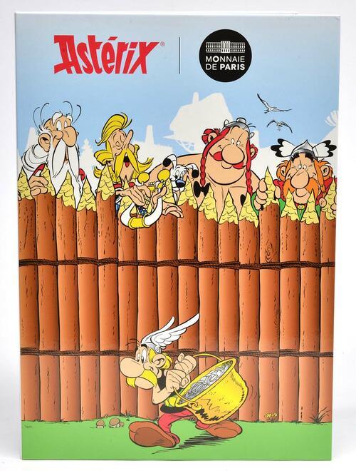 Vorderseite:Frankreich :   Asterix Medaillen-Set - 9 offizielle Mini-Medaillen  2019 Stgl.