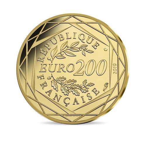 Rückseite:Frankreich : 200 Euro 10FF Mathieu de 1976  2019 bfr