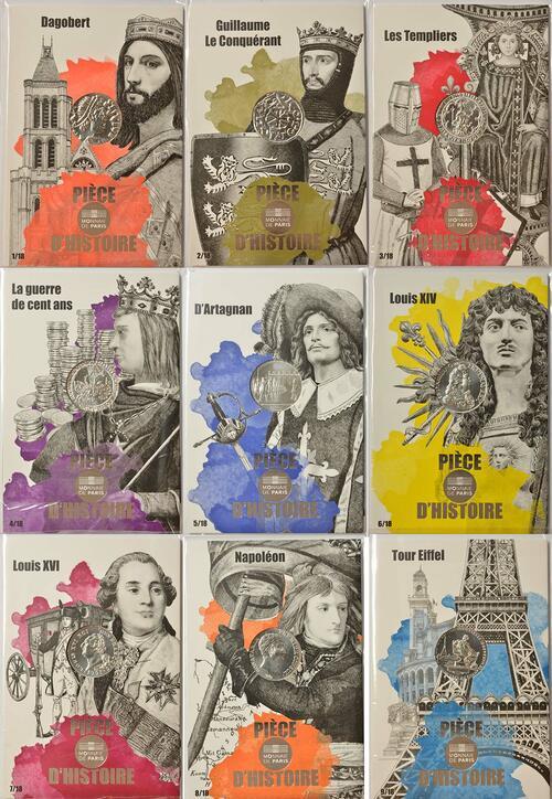 Lieferumfang:Frankreich : 90 Euro 9x10 Euro Piece d´histoire Ausgabe 1/2  2019 bfr