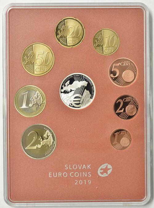 Vorderseite:Slowakei : 3,88 Euro KMS Slowakei 10 J. Euroeinführung  2019 PP