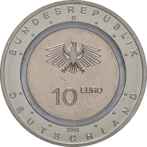 Rückseite:Deutschland : 10 Euro 25x 10 Euro In der Luft  2019 bfr