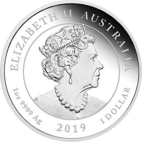 Rückseite:Australien : 1 Dollar 200. Geburtstag Queen Victoria   1 oz  2019 PP