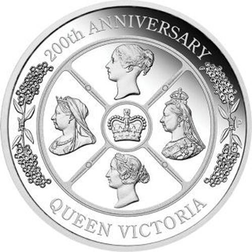 Vorderseite:Australien : 1 Dollar 200. Geburtstag Queen Victoria   1 oz  2019 PP