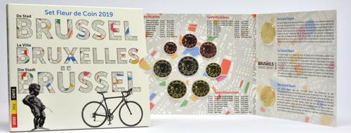 Lieferumfang:Belgien : 8,88 Euro KMS Belgien Brüssel inkl. 2,5 Euro Tour de France u. 2,5 Euro Manneken Pis  2019 Stgl.