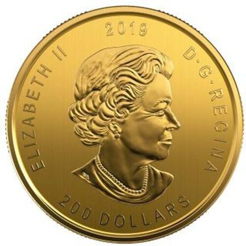 Rückseite:Kanada : 200 Dollar Kanadischer Elch - in Coincard   999,99  2019 Stgl.