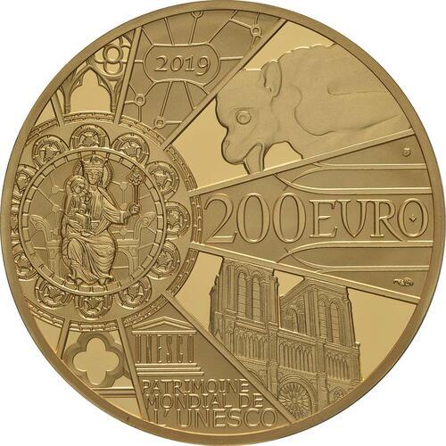 Rückseite:Frankreich : 200 Euro Notre Dame  2019 PP