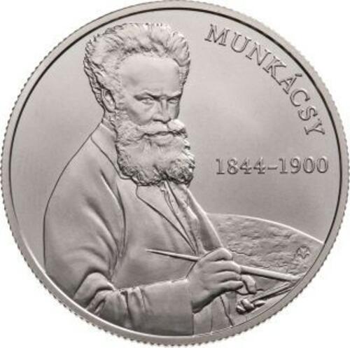 Lieferumfang:Ungarn : 2000 Forint 175. Geburtstag Mihaly Munkacsy (Maler)  2019 Stgl.