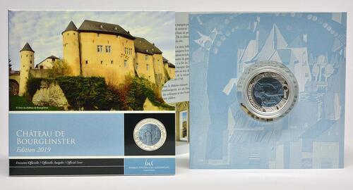Lieferumfang:Luxemburg : 5 Euro Schloss Bourglinster  2019 PP