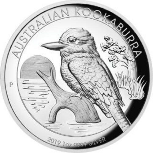Vorderseite:Australien : 1 Dollar Kookaburra - Highrelief  2019 PP